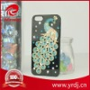 Mobile phone manufacture AA Rhinestone peacock case for iphone 5