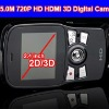 1280*720 720P HD Dual Lens 4X Digital Zoom 3D Digital Camera