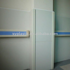 hospital use antibacterial crashworthy PVC handrails