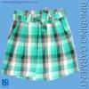 fashion plaids cotton dress