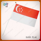 promotional Singapore hand flag with plastic poles