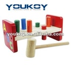 wooden pre-school educational hammer toy