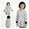 Girls fall coats with polka dots printing