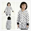 Girls fall coats with polka dots printing