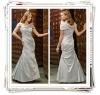 2012 Slinky Straps Ruffle Column Silver Satin Floor Length Mother Of Bride Dress