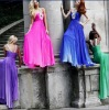 2010 newest style L-2108 zhenzhen chiffon beaded evening dress