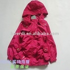 RPET newest trendy women's rose red pink coat,promotional coat