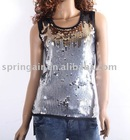 2012 new fashion sequin vest sweater