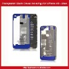 Clear Glass Back Cover Housing Replacement For iPhone 4S -Transparent Blue