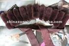 Rex fur collar & rex fur strips