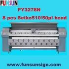 FY3278N Seiko Head Solvent Printer ( 8 Seiko SPT50pl head, 150sqm/hour )