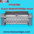 FY3278N Seiko Head Solvent Printer ( 8 Seiko SPT50pl head, 150sqm/hour )
