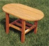 (W-T-R350) oval table wooden leisure table