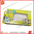 Fashion pvc window printing paper box with top sale
