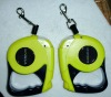 retractable dog leash with LED light automatically