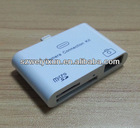 2012 Cheap Price 3 in 1 micro SD camera connection kit card reader adapter for iPad 4 ipad mini