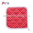 dots printing cotton potholder with loop