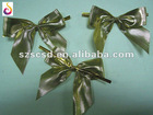 Golden gift ribbon bow for decoration gift boxes