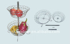 2-TIER PLATING FRUIT BASKET