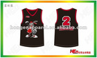 Fashion Sublimated Printing Basketball Shirt