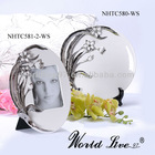New Item Ceramic White and silver elctro-plated plates and photo frame home decorating