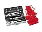 20 pieces aluminum case bbq tools set