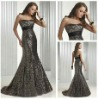 Wholesale Fashion Sexy Sequins Single Dresses Evening Sexy Black