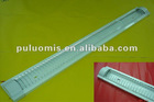 T8 fluorescent lighting fixture with grill