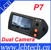 Hot Selling Vehicle DVR Recorder Dual Cameras Car DVR with GPS DVR-P7