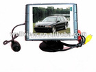 Car reversing camera kits with 3.5inch monitor and super mini camera