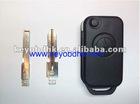 Benz 1 button flip remote key shell&& Benz remote flip key blank