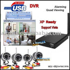 4*IR Wireless Camera USB Receiver DVR to PC Security Kit MD8