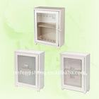 iron with powder coated storage box with glass window