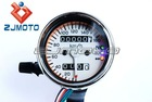 MINI Mechanical Gauge Speedometer with white Interface 3 LED indicators for Harley and Custom Motorcycles