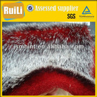 Tip-dyeing and discharging artificial fur
