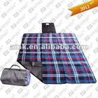 picnic rug in check pattern