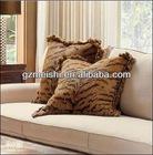 Leopard printed sofa cushion
