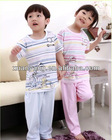 Soft 100% cotton sleeping wear for kids pajamas
