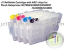 Refillable Cartridge with Chip For Ricoh GX7000 GX5050N GX5000 GX3050SFN GX3050N GX3000SFN GX3000SF GX3000S GX3000 GX2500