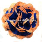 "4"" Combo color Eyelet Flowers/ Eyelet Fabric Flowers"