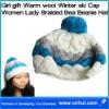 Girl gift Warm wool Winter ski Cap Women Lady Braided Bea Beanie Hat 03