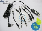 6 in 1 USB multifunciton programming cable for two way radio walkie talkie baofeng uv-5r/hyt/kenwood