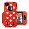 Spots Silicone Cover For iPhone 5 Robot Cover 3 in 1 Protector