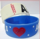promotional boutique silicon wristband with width 25mm