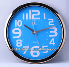 30cm customized plastic wall clock and customized logo are welcome