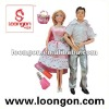 loongon plastic doll 11.5' doll set couple cute dolls