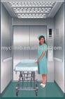 Gearless hospital elevator