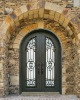 wrought iron entrance door with full arc
