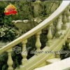 Outdoor modern white marble stair railing