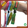 2012 festival woven wristband with metal tube & plastic uni-directly buckle